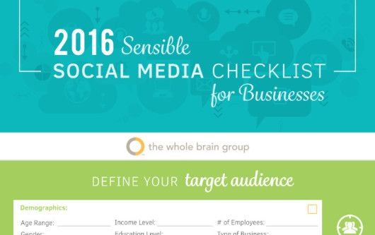The 2016 Sensible Social Media Checklist for Businesses by the whole brain group_preview