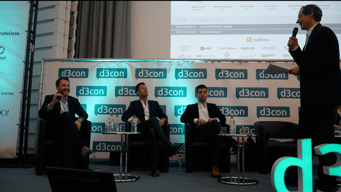 von links nach rechts: Stefan Zarnic (Hubert Burda Media / BVDW), Martin Michel (Sky Media), Richard Harless (Shazam), Ralf Scharnhorst (Scharnhorst Media, OnlineMarketing.de)