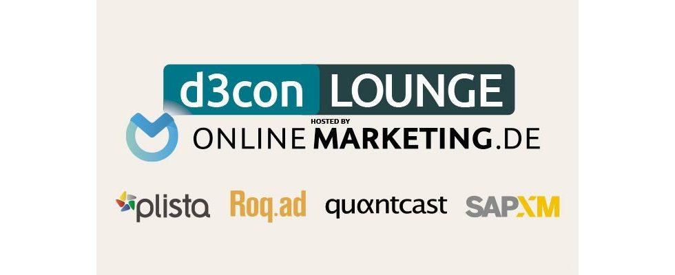 Display Branche versammel dich: d3con-Lounge wird auch 2016 von OnlineMarketing.de veranstaltet