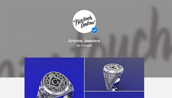"Verifizierte Seiten ""on Google"" Screenshot © Google"