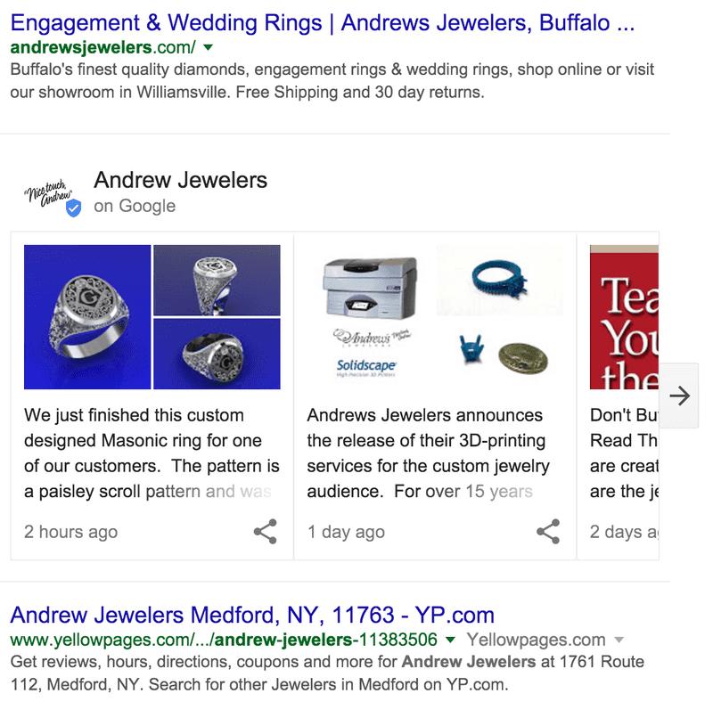 Die Echtzeit Posts über den Suchergebnissen Screenshot © The Verge