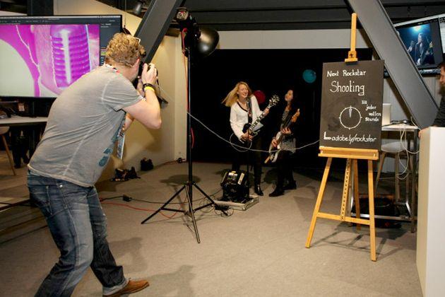 Adobe Rockstars Shooting auf der OMR Expo, © Tina Bauer / OnlineMarketing.de