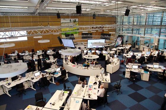 Ein Blick hinter die Vorhänge: Der WELT Newsroom - hier ist auch die Social Media Redaktion zu finden. © Axel Springer SE