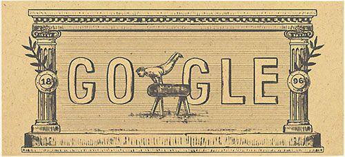 google doodle von heute moderne olympische spiele. Black Bedroom Furniture Sets. Home Design Ideas
