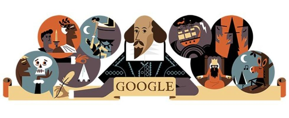 Google Doodle von heute: William Shakespeare