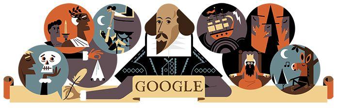 Google Doodle von heute: William Shakespeare