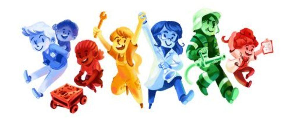Google Doodle von heute: girlsday boysday 2016