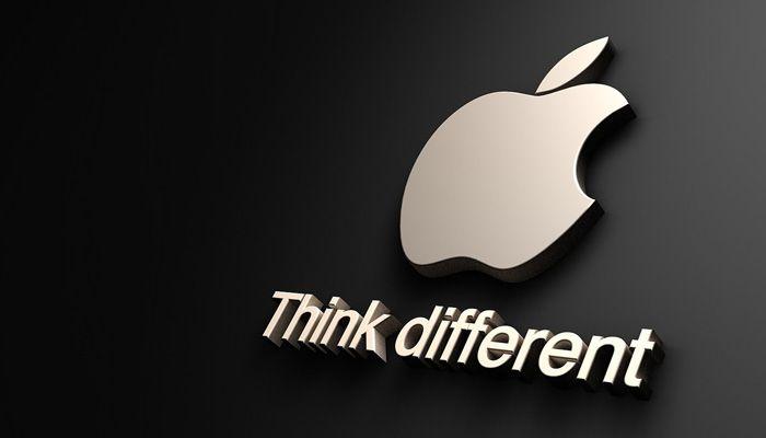 Der Slogan von Apple
