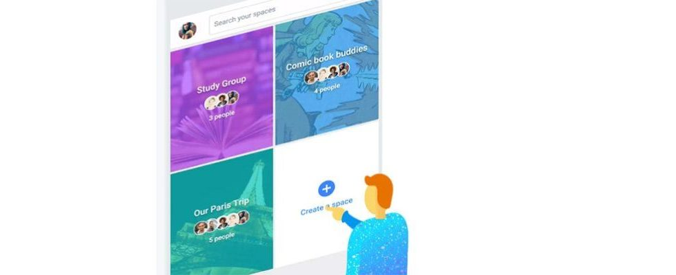 Googles Sharing-Antwort: Spaces vereint YouTube, Suchmaschine, Messenger und Bilder in einer App
