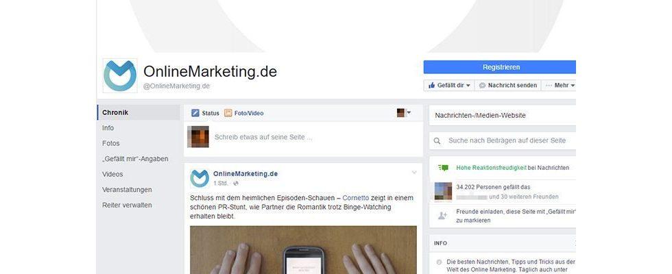 Page Lifting: Facebook testet Redesign von Profilen