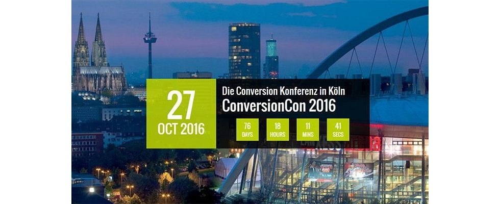 Conversion-Rate und ROI steigern – Die ConversionCon in Köln 2016 [Anzeige]