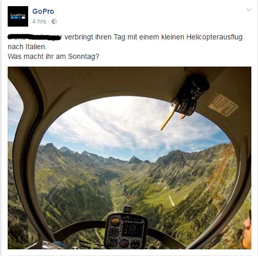 Storytelling Facebook - GoPro