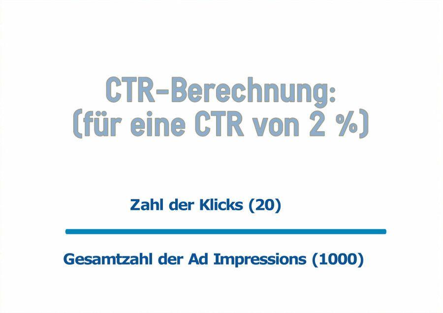 Click-Through-Rate Berechnung