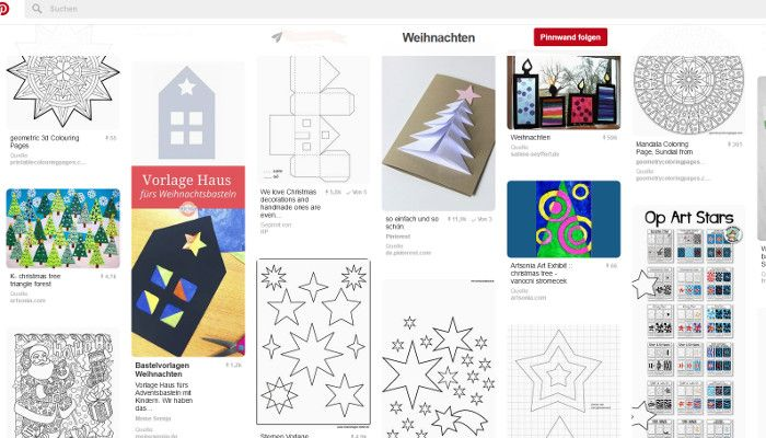 HP-Auftritt auf Pinterest, Screenshot Pinterest