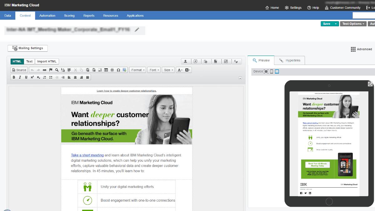 E-Mail Marketing mit der IBM Marketing Cloud