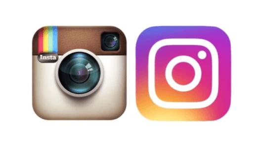 Links das alte Design, rechts das neue. © Instagram
