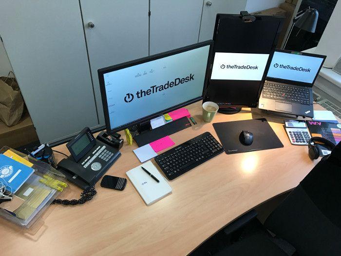 Der Arbeitsplatz von Lukas Fassbender bei The Trade Desk