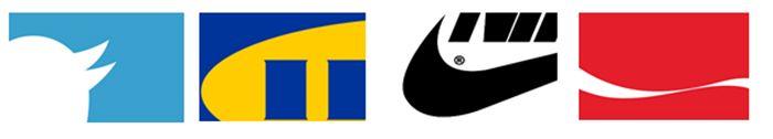 Logo-Schnipsel bekannte Marken