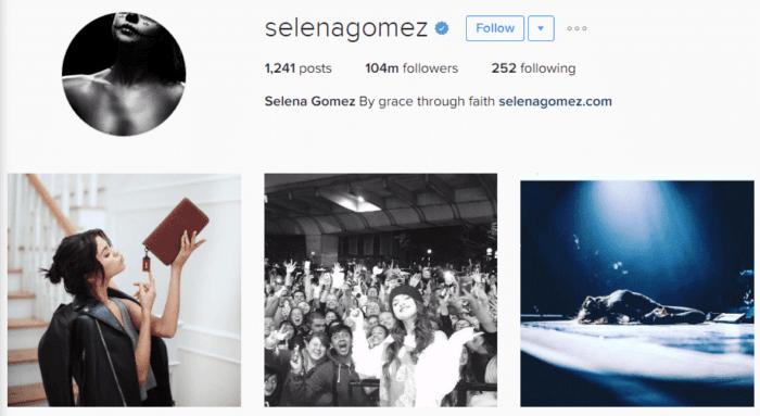 Die 24-jährige ist der erfolgreichste User der Plattform. © Screenshot von Instagram