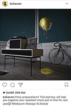 Organischer Post von Bolia, einer dänischen Designer-Einrichtungskette mit hohem Engagement.