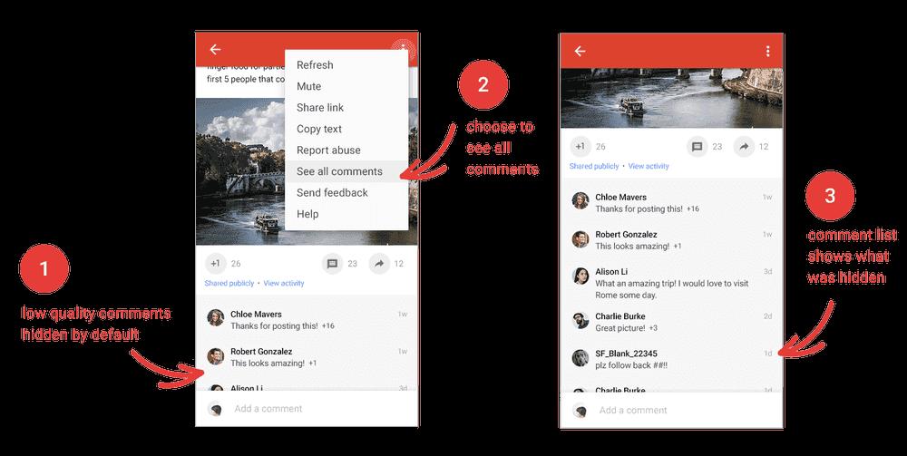 Spam-Kommentare gehören in Zukunft der Vergangenheit an, © Google