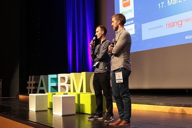 Jens Wiese und Philipp Roth eröffnen die AFBMC 2016 in München.