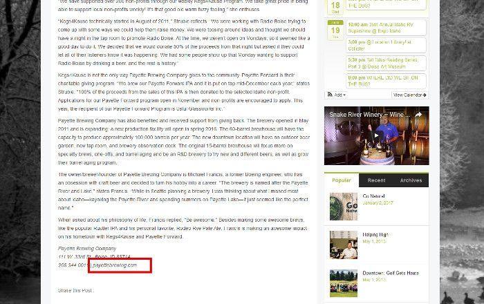 Screenshot greenbeltmagazine.com