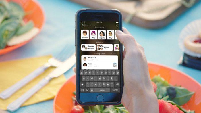 So soll die neue Suchfunktion bei Snapchat aussehen, Screenshot TechCrunch