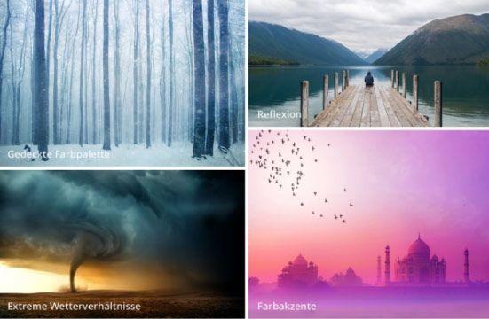 Extreme Naturphänomene, Macht der Natur und Nachdenklichkeit sind die aktuellen visuellen Social Media Trends. © Shutterstock