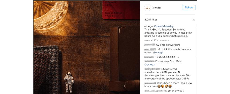 10,9 Mio. Euro Umsatz in 4 Stunden: Wie Omega Instagram an nur einem Tag durchspielte