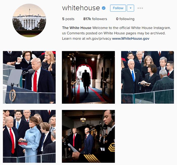Die Bilder aus Obamas Amtszeit wurden archiviert.