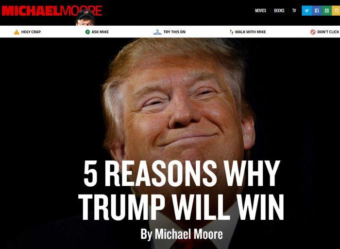 Screenshot michaelmoore.com