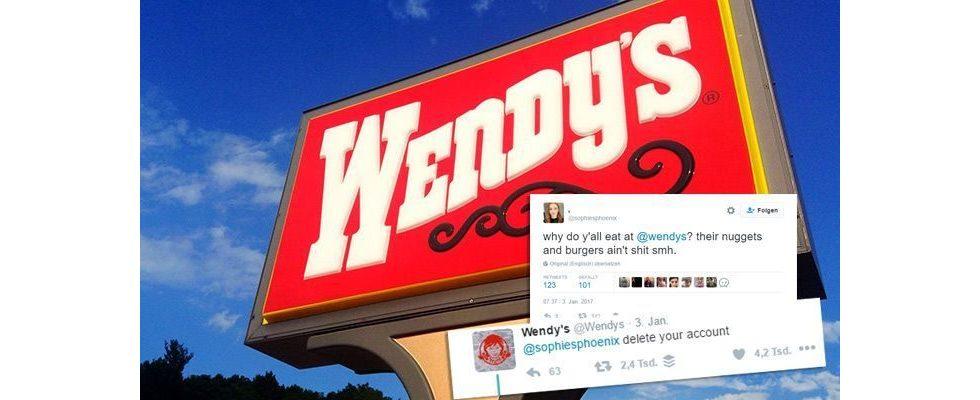 Starker Auftritt: Fast-Food-Kette Wendy's trollt User auf Twitter