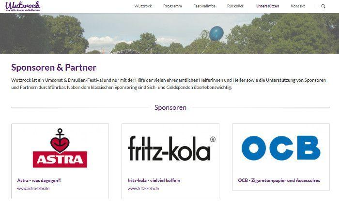Screenshot wutzrock.de
