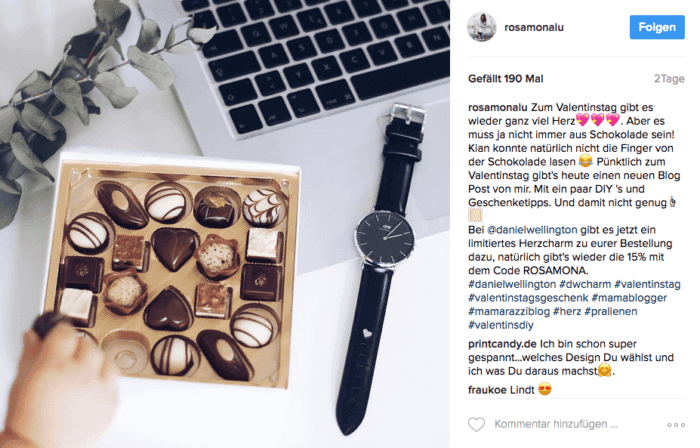 Daniel Wellington Instagram Promoaktion