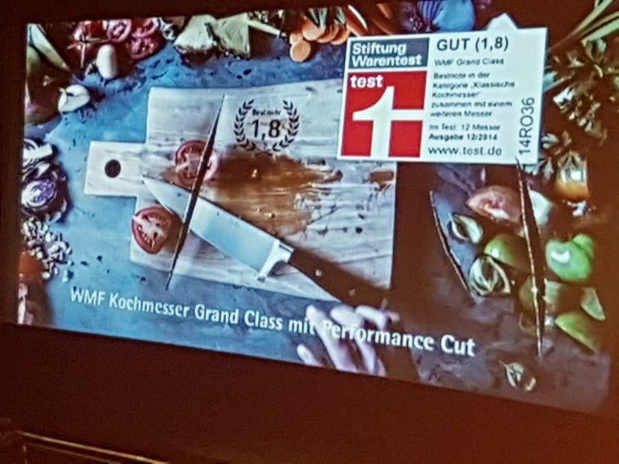 WMF-Messer zerschneiden Kino-Leinwände.