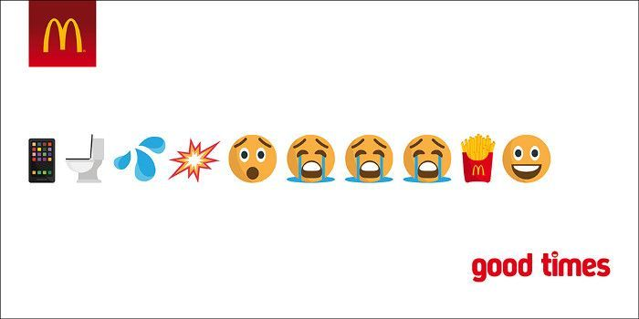 Humorvolles Emoji Marketing von McDonald's, Screenshot SEOPressor