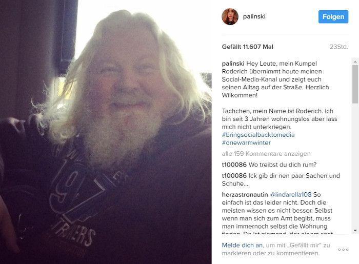 Moderatorin Palina Rojinski stellt Roderich auf ihrem Account vor, © Instagram - palinski
