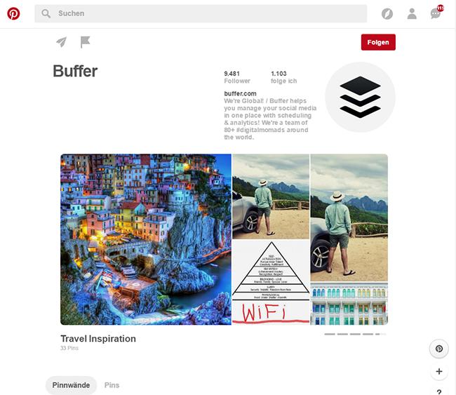 Mit Pinterest Showcase lassen sich die beliebtesten Pins ganz oben auf der Seite präsentieren.