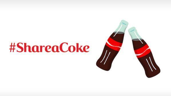 Der erfolgreiche #Shareacoke Emoji von CocaCola, Screenshot CocaCola Company