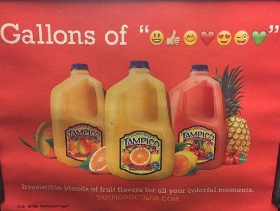 Tampicos fragwürdige Werbung mit Emojis, Screenshot HubSpot