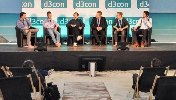 Ralf Scharnhorst moderiert eine Paneldiskussion der d3con