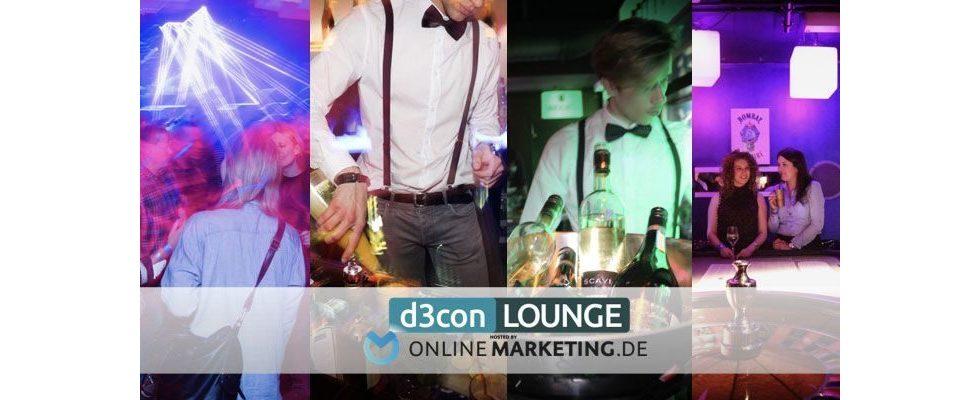 Abendprogramm zur d3con: Lounge und Dinner hosted by OnlineMarketing.de