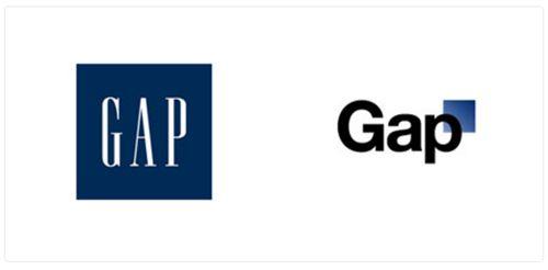 erfolglose Änderung des GAP-Logos