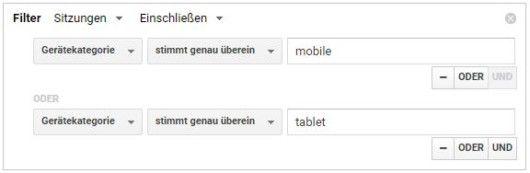 Google Analytics - Segmente - Mobile Traffic