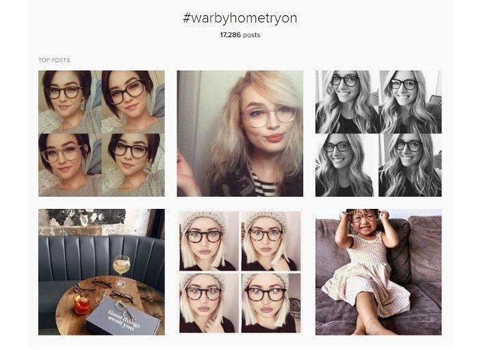 Die #warbyathometryon-Kampagne zeigte Vorteile von User Generated Content, Screenshot WebpageFX