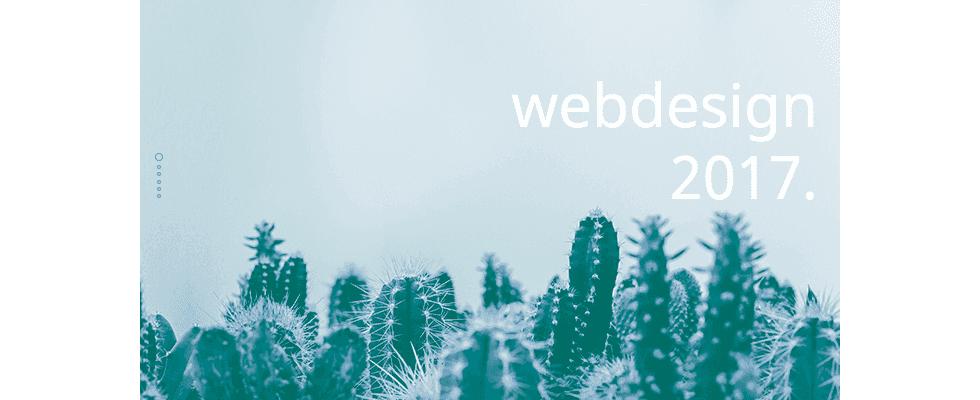 Webdesign 2017: Diese Trends stehen dieses Jahr im Fokus