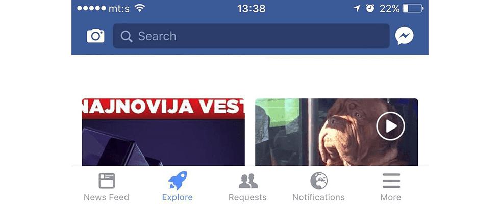 Neues Raketensymbol: Facebook testet alternativen Newsfeed in der App