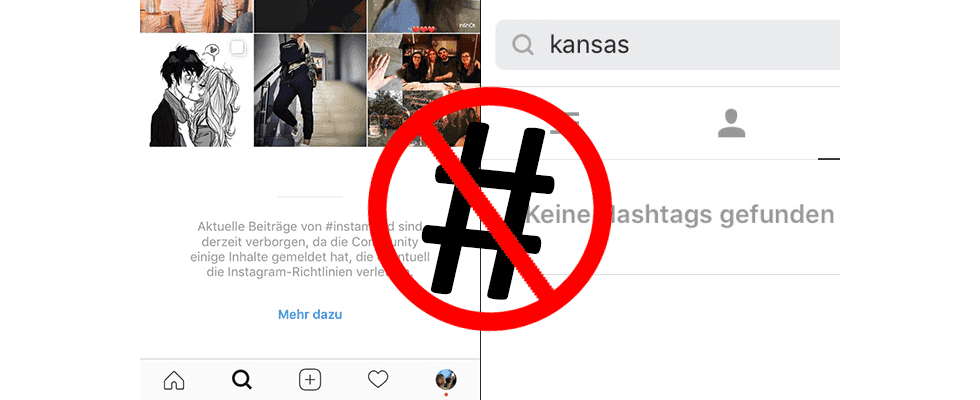 Von Hardcore bis Elevator: Die wunderliche Hashtag-Zensur auf Instagram