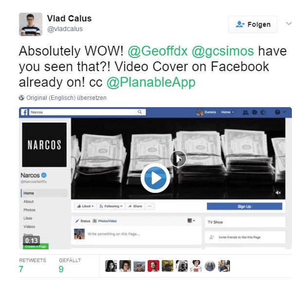Video Cover Als Facebook Header C Vlad Calus Twitter